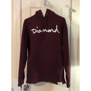 Diamond Supply Co. Maroon Hoodie